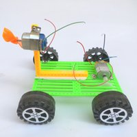 automatic plastic materials - Science and technology small production diy automatic solar car toys for children of students experiment manually assembled model material