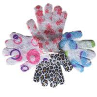 bathroom resistance - Bathroom Shower Gloves Body Scrubber Bath Gloves Exfoliating Skid resistance Skin Washing Spa Massage Gloves