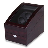 Wholesale High Quality Brown Automatic Watch Winder Rotation Leather Storage Display Case Box Gift