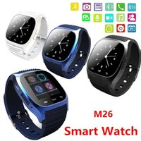 2016 Bluetooth intelligent Montres M26 montre-bracelet pour iPhone Samsung HTC Android Phone Santé Smartwatch Meilleur Vente VS U8 DZ09 GT08 A1 Apple Suivre