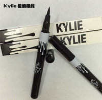 Wholesale Fasion Kylie Jenner Black Brown Liquid Double Eyeliner Long lasting Waterproof liquid Pen eye liner Gel Thin Design eyeliner opec supply