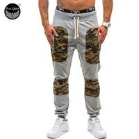 Wholesale Mens Joggers Homme Men Pants Mallas Hombre Stitching Camouflage Pants Sweatpants Jogger Pantalones XL