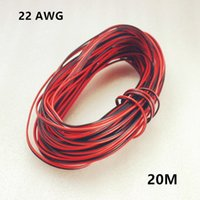 Wholesale 20m awg Extension Cable Wire Cord led Strips Single Colour Red Black pin Hookup Wire V V V DC