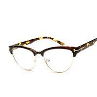 amber computer glasses - Women s Elegant Half frame cat eye Eyewear Frames Amber brand designer Computer Glasses Frames oculos De Grau F15031
