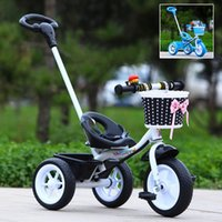 baby riding bicycle - Promotion Sale Baby Kids Bicycle Trike Pushchair Toddler Bike Tricycle Outdoor Ride On Toys JN0054 salebags