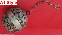 Wholesale TIBETAN SILVER HAND HOLLOW OUT DRAGON ROUND Censer