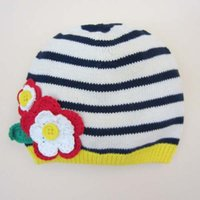 baby crochet flower hat pattern - Girls Caps Kids Cap Baby Crochet Hats Flower Wool Cap Hand Knitted Caps Girls Hats Children Caps Infant Knit Hat Patterns Ciao C26799