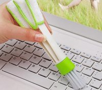 Cheap New Arrive Pocket Brush Keyboard Dust Collector Air-condition Cleaner Window Leaves Blinds Cleaner Duster Computer Clean Tools