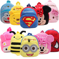 baby toddler books - 2016 New Children School Bags Lovely Cartoon Animals Backpacks Baby Plush Shoulder Bag Schoolbag Toddler Snacks Book Bags Good Kids Gift