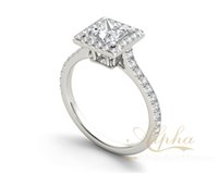 alpha model - Alpha Jewelry modern new model famous star diamond ring custom featured products fashion sliver jewelry BER0328