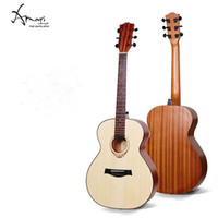 Wholesale AM MINI Hot High quality grade Mic Acoustic Electric Guitar A Engleman Spruce Guitarra A Indian Rosewood Fingerboard Ricken