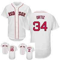 Wholesale New Flexbase Red Sox Jersey David Ortiz Pedroia Bogaerts Stitched White Baseball Jerseys