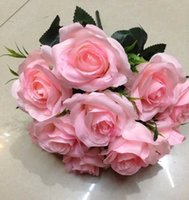 arranging roses - Decorative flowers red wedding rose flower arranging plastic fake flower head bouquets of roses