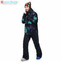 Wholesale Newest High Quality Large Size Winter Men Ski Jacket Windproof Breathable Waterproof Snowboard Jacket Ski Clothes