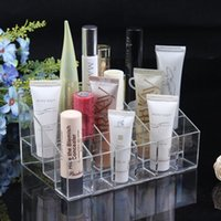 Wholesale 50pcs Clear Acrylic Lipstick Holder Display Stand Cosmetic Organizer Makeup Case Hot Selling