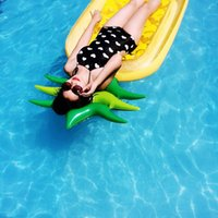 Wholesale 2016 Summer Inflatable pineapple float Swimming Air cushion bed surfboards Summer water toys inflatable floating bed Adult swimming pool toy