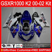 Wholesale Factory blue gifts Body For SUZUKI GSXR1000 GSX R1000 HM1 GSX R1000 K2 GSXR GSXR Fairing Hot blue white