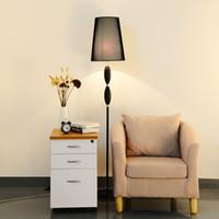 Wholesale Modern minimalist living room bedroom bedside lamp floor lamp LED creative fabric Nordic European E27 aisle commercial lighting hot sell