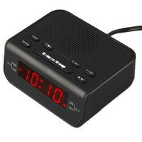 Wholesale 2016 Digital FM Alarm Clock Radio With Dual Alarm Sleep Timer LED Red Time Display Hot Selling