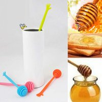 Wholesale 500 Help Honey Spoon Palm Shape Honey Stick Stirring Rod Length cm Kitchen Tools DHL Fedex