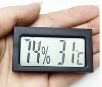 Wholesale 200pcs mini digital thermometer diagnostic tool Hygrometer Meter thermostat accuracy temperature C humidity RH