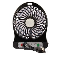Wholesale USB Mini Fan LED Light Portable Rechargeable Air Cooling Hand held Kids Table F95B Fans Battery Adjustable Speed