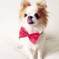 Wholesale MultiColor Fashion Cute Pet Bowknot Tie Bow Knot TieNecktie Collar Pet Clothing Dog Cat Puppy