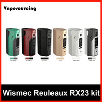 Wholesale 100 Authentic Wismec Reuleaux RX2 Replaceable Back Cover for Two or Three Cells W or W RX23 VS RX200s RX200 Box Mod