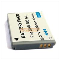 Wholesale NB6L NB LH NB L Digital Batteries for Canon Power shot Cameras SX520 HS SX530 SX600 SX610 SX700 SX710 IXUS