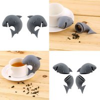 american filter - 2016 American Shark Shape Tea Infuser Silicone Strainers Tea Strainer Infusor Filter Empty Tea Bags Leaf Diffuser Accessories free ship