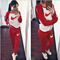 Wholesale Women Clothing Autumn Style Sweatshirt Letter Print Tracksuit Women Long Pants Pullover Tops Womens Set Women Sport Suits
