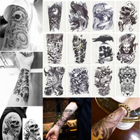 Wholesale BigStyle Large Temporary Tattoo Arm Body Art Removable Waterproof Tattoo Sticker