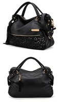 american fasteners - Handbags European And American Trade Package Sequins Leopard Grain PU Leather Slide Fastener Single Shoulder Bag Large Capacity Handbag