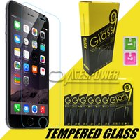 Wholesale Tempered Glass For Iphone Plus Iphone Screen Protector mm Explosion Proof Film For Galaxy S7 Note With Retail Packag