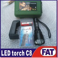 Wholesale C8 mountaineering special led light led flashlight torch