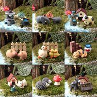 Wholesale 10set Fairy garden gnome bonsai flower pot bryophytes diy decoration terraium decoration lovely gifts lover pig model