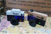 Wholesale Lovely Model Korea Wooden retro Camera Rubber Stamp Seal Gray Brown DIY
