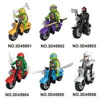 Wholesale TMNT Set Teenage Mutant Ninja Turtles Action Mini Figures Building Block Toy New Kids Gift Compatible With Motorcyc d45