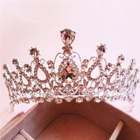 accessories for prom - New Wedding Crown Princess Clear Rhinestone Tiara Crown Hair Combs For Girl Women Prom Event Birthday Accessories Customized silvery
