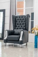 Wholesale Classic European Sofa Chair Which Made In st Layer Cattle Leather Solid Wood Frame Durable Leather Chair