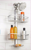 adjustable aluminum shelving - DHL Adjustable Aluminum tiers shower caddy anodized silver finish