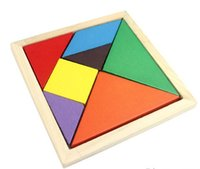 Wholesale New Hot Sale Children Mental Development Tangram Wooden Jigsaw Puzzle Educational Toys for Kids