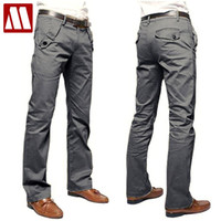 beige shade cloth - Hot sale new style high quality Mens casual pants shade cloth cotton pants slim fit men s pants C287