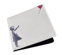 balloons uk - 2016 Fashionable Great Look Banksy Girl with Balloon Unisex Short Wallet Card Holder Bag Have Stock In UK