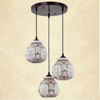 asian dining room - Asian E27 LED Vintage Pendant Light Head Lamp Hanging Chinese Ceramic Loft Coffee Bar Restaurant Kitchen Lights