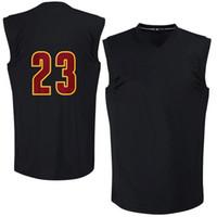 Cheap Men's #23 Player Black 2016 Finals Champions Jersey High Quality Basketball Jerseys Cheap Basketball Shirts Players Jerseys In Stock