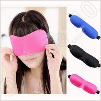 Wholesale 3D Eye Mask Shade Cover Rest Sleep Eyepatch Blindfold Travel Sleeping Aid Soft Eye Sleep Mask Padded Shade Cover CCA4956