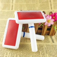 Wholesale Pet Dog Cat Hair Brush Shedding Grooming Pin Hair Brush Combs clean tools small size HK77
