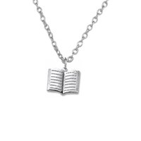 bible good - New Trend Zinc Alloy Rhodium or Gold Plated Holy Bible Book Pendant Link or Ball Chain Necklaces Good Luck