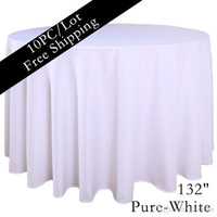 dyed fabric - White Hotel Table Linen inch Round Seamless Table Linen Home Textile Fabric Dining Tablecloth Tea Cloth Table Cloth for Sale